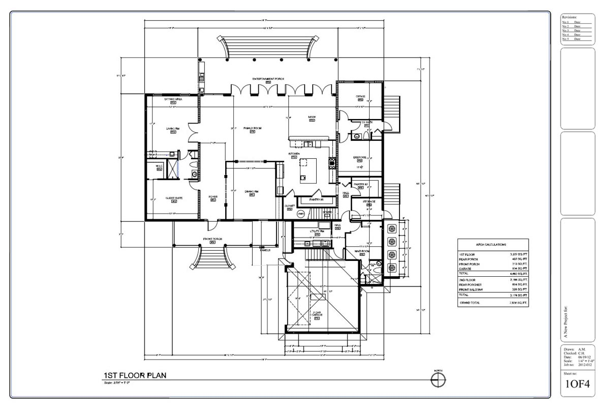 Drafting by ids Home plan drawing